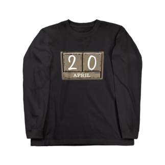 420GNJの420。 Our important day Long sleeve T-shirts