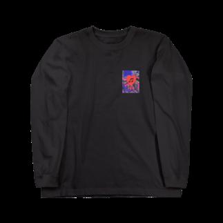 -ishのBleeding heart  Long sleeve T-shirts