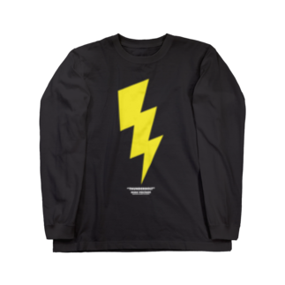 highvoltagewearsのthunderbolt 黒ベース Long sleeve T-shirts