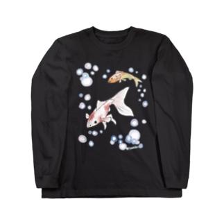 金魚さん Long sleeve T-shirts