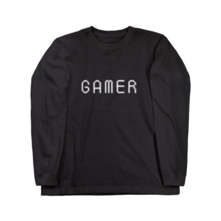 GAMER(白ロゴ) Long sleeve T-shirts