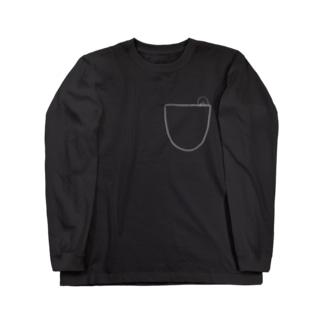 ポケットのスキマさん Long sleeve T-shirts