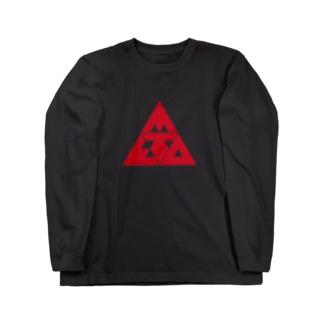 META TRYANGLE Long sleeve T-shirts
