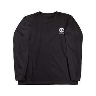 サワダシンヤのコエンタイムロゴ[刷色:白] Long sleeve T-shirts
