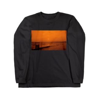 Beach orange Long sleeve T-shirts