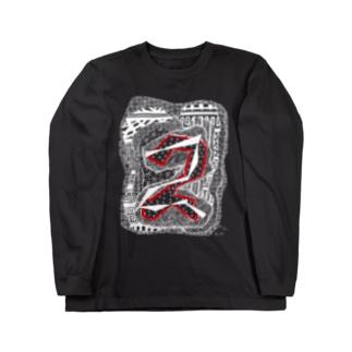 kw_03w_縄文 Long sleeve T-shirts