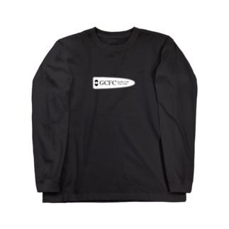 GCFC白プリント大 Long sleeve T-shirts