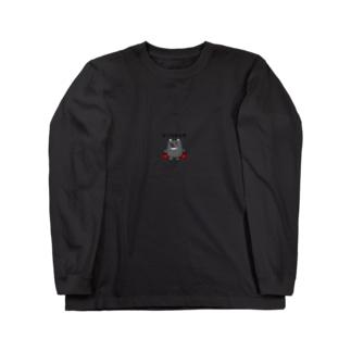 Cripikal-Hitsのおこられた熊 Long sleeve T-shirts