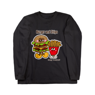 Creepy Treasures!のBurger and Chips Long sleeve T-shirts