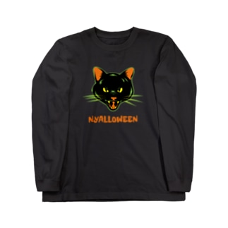 ニャロウィン Long sleeve T-shirts