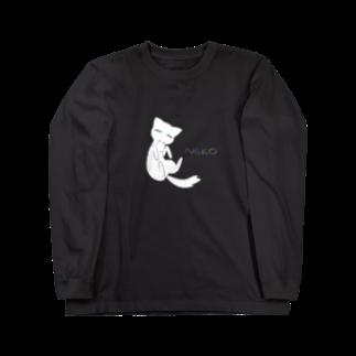 tecoshopのNEKOグッズ Long sleeve T-shirts