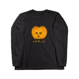パンプキン氏 Long sleeve T-shirts
