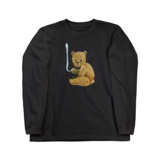 smoking bear Long sleeve T-shirts