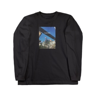 SAMPO / 青空と薔薇 Long sleeve T-shirts