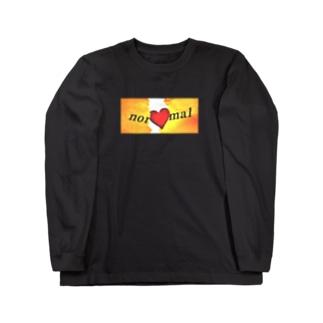 Break your normal / ブラック Long sleeve T-shirts