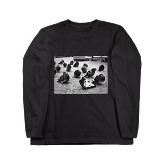 冬のハト Long sleeve T-shirts