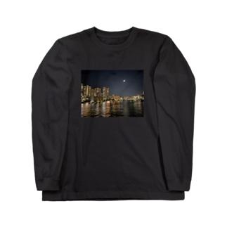 TOKYO MOON(東京夜景) Long sleeve T-shirts