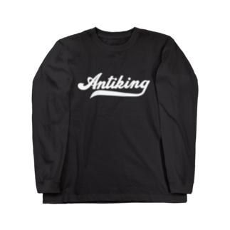 AntiKing(白文字) Long sleeve T-shirts