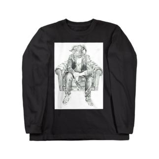 眠らない夜の羊 Long sleeve T-shirts