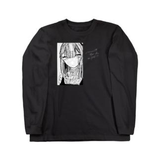 つよき(黒地用) Long sleeve T-shirts