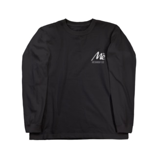 MESARION+ロゴ 文字切り抜きVer(ホワイト) Long sleeve T-shirts