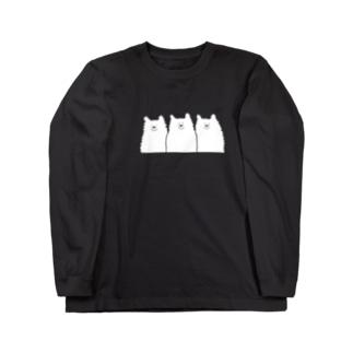 1匹だけまゆげアルパカロンT Long sleeve T-shirts