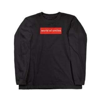 World of smiles 赤ロゴ Long Sleeve T-Shirt