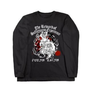 FUUJIN RAIJIN  DARK COLOR VERSION Long sleeve T-shirts