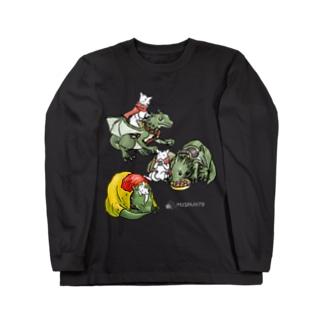竜騎猫の一日 Long sleeve T-shirts