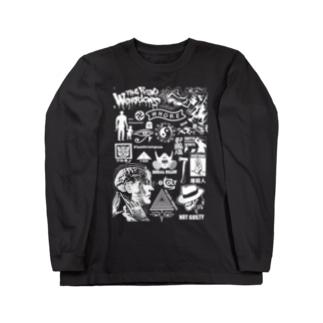 ゴトウヒデオ商店 ゲットースポーツの極悪グラフィック Long sleeve T-shirts