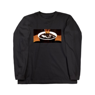 100円コーヒー Long sleeve T-shirts