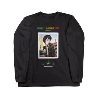 超自然的生活(黒) Long sleeve T-shirts