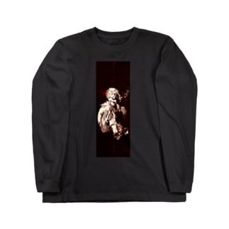 しゃぼん玉ふくセーラー服(暖色調) Long sleeve T-shirts