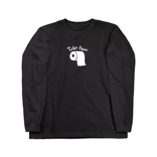 トイレットペーパー・ロンT(黒) Long sleeve T-shirts