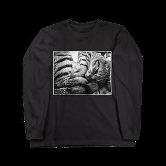 古春一生(Koharu Issey)の微睡みのR(黒) Long sleeve T-shirts