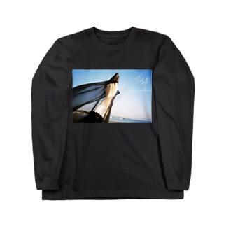 まだみぬロンT黒 Long sleeve T-shirts