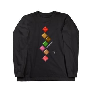 JAPANESE CHOCOLATE-Zigzag Long sleeve T-shirts