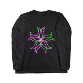 curveFlower Long sleeve T-shirts