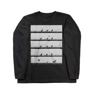 RHYTHMSCAPE-002(PIGEON) Long sleeve T-shirts