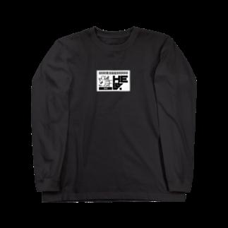 HElll - ヘル - のNo.008 両手で描いたウサギ  ロンT Long sleeve T-shirts