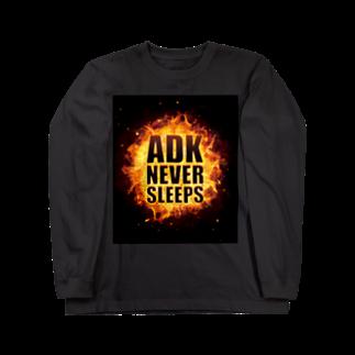 【仮想通貨】ADKグッズ(Tシャツ等)専門店 のADK NEVER SLEEPS Long sleeve T-shirts