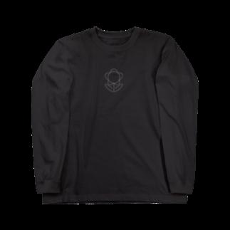 しゅんたのひまつぶしのおはなイラスト(黒系) Long sleeve T-shirts