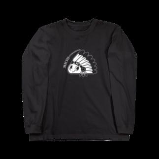 MICHI_INのMICHIインターナショナルロゴ入(白) Long sleeve T-shirts