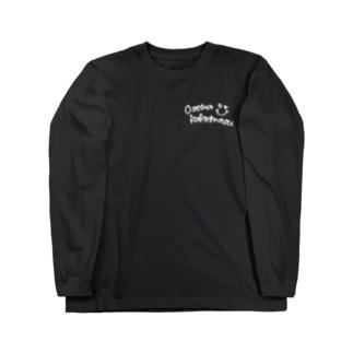 くちぐせ(白ロゴver.) Long sleeve T-shirts