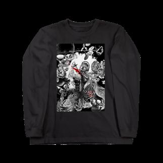 暗国の杜 SUZURI支店のDeath for me Long sleeve T-shirts