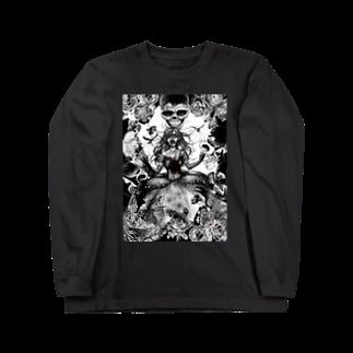 暗国の杜 SUZURI支店のGothic Long sleeve T-shirts