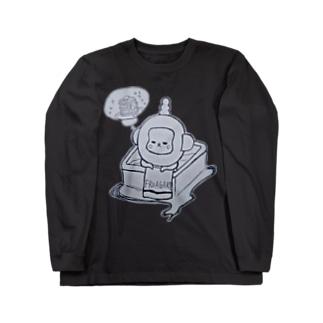 入浴中 ふろあがりちゃん Long sleeve T-shirts