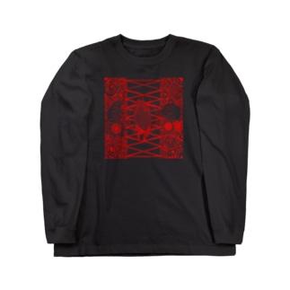 ヘナタトゥー風2 Long sleeve T-shirts
