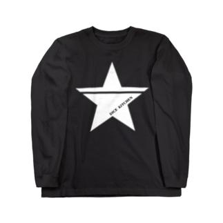 ダイスキッチン応援グッズ(ワンスター白) Long sleeve T-shirts
