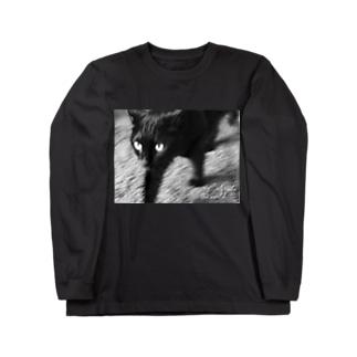 銀鉤舎 Cats rule the world Long sleeve T-shirts